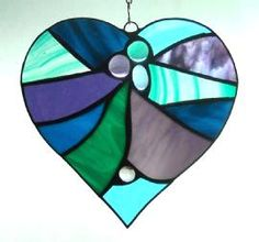 Abstract Heart Purple & Teal
