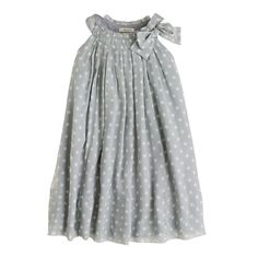 Girls' crinkle silk chiffon dot dress