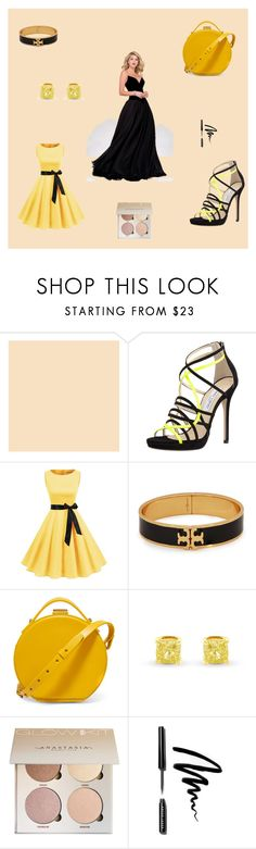 """Shoes and makeup"" by aleksandra111-983 ❤ liked on Polyvore featuring Jimmy Choo, Tory Burch, Nico Giani and Bobbi Brown Cosmetics"
