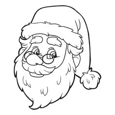 free printable santa coloring page kids will love coloring this picture of the big guy christmas colorschristmas craftschristmas
