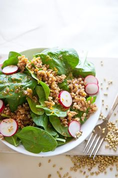 Spinach is packed with essential vitamins and fiber.