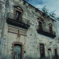 La casa pinta en ruinas antes de la remodelación, Teocaltiche, Jalisco, México