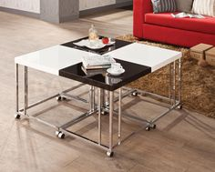 Contemporary Set of Snack Tables (4 PC)