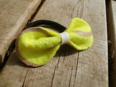 Unique Upcycled Tennis Ball Hair Elastic Hair Bow! Just in Time for Tennis Season!!
