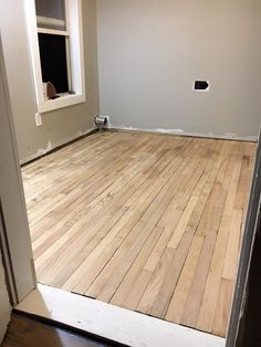 How We Refinished Our Old Wood Floors In 6 Hours – Two Paws Farmhouse Home, Old Wood Floors, Natural Oak Flooring, Diy Bathroom Remodel, Old Wood, Flooring, Refinish Wood Floors, Hardwood, Refinished