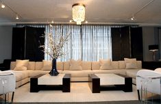 Luxury Furniture Retail Store Interior Design Donghia Showroom in New York with Manhattan Armless Sectional Sofa