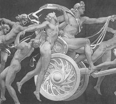 """pre-raphaelites: """" Apollo in His Chariot with the Hours by John Singer Sargent, 1925. """""""