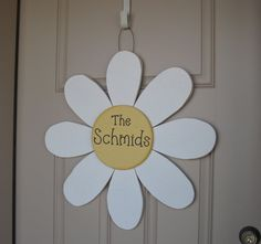 "LARGE 24"" Hanging PERSONALIZED DAISY door, wall hanging, girl bedroom or home decor on Etsy, $35.95"