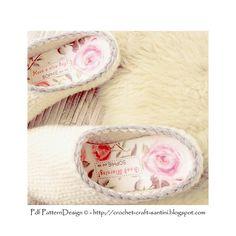 Ravelry: Crochet-Knit White Slipper-Clogs - Basic Pattern pattern by Ingunn Santini