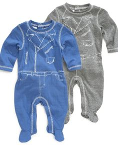 First Impressions Baby Bodysuit, Baby Boys Footed Coverall - Kids Baby Boy (0-24 months) - Macy's