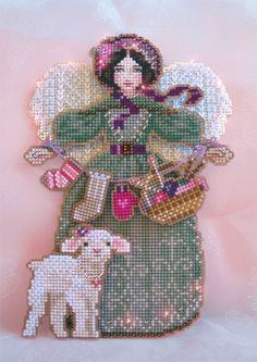 Brooke's Books Spirit of Knitting Angel Ornament Cross Stitch Chart Only - for the Victorian tree