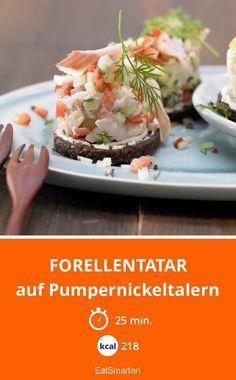 Forellentatar - auf Pumpernickeltalern - smarter - Kalorien: 218 kcal - Zeit: 25 Min.   eatsmarter.de