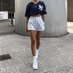 Tomboy Fashion, Teen Fashion Outfits, Mode Outfits, Streetwear Fashion, Cute Comfy Outfits, Trendy Outfits, Summer Outfits, Cute College Outfits, Mode Ulzzang