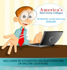 30 Minutes could save you $100,000! Find the Best #OnlineColleges in #USA