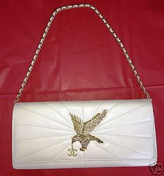 Rare-Chanel-Pearly-White-Evening-Clutch-Bag-with-Gold-Eagle