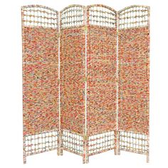 Recycled Magazine Room Divider - Oriental Furniture,