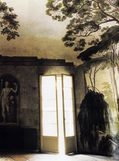"""upintheatticus: """" (1) Boschereccia by Rodolfo Fantuzzi, 1810 indoor painted garden in Bologna, Italy featured in the World of Interiors source: athoughtfuleye """""""