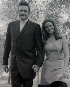 Johnny Cash & June Carter Cash in Hyde Park, London 1968