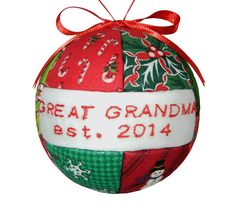Great Grandma Christmas Holiday Ornament  2014 by craftcrazy4u, $14.95