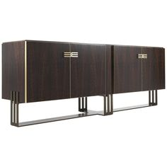 For Sale on - Featuring pure and uncluttered lines, Klee sideboard combines the choice of precious, luxurious materials with the simplicity of the design. The structure House In The Woods, Sideboard, Upholstery, Pure Products, Interior Design, Luxury, Storage, Metal, Modern