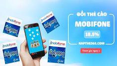 Đổi thẻ cào Mobifone chiết khấu 18.5%