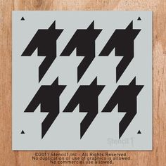 houndstooth wall stencil. WANT.