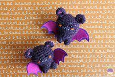 Amigurumi Food: Halloween is coming! Amigurumi Bats Free Crochet Pattern