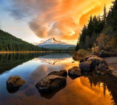 Fotografía Mt.Hood at Sunrise por John Qu en 500px