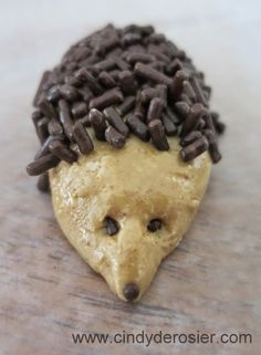 "Hedgehog Edible Treat for ""The Mitten"" - contains peanut butter so watch for allergies!"