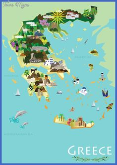 Image result for martin haake greek islands map