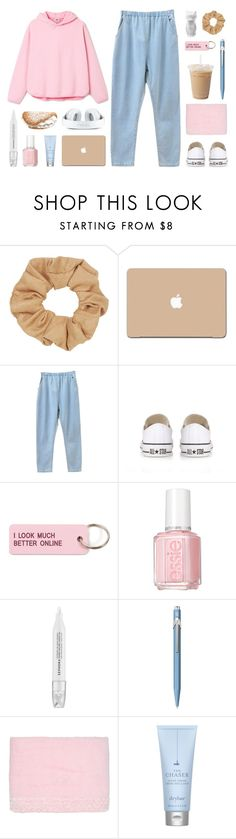 """""""«i ain't even think of leaving sometimes»"""" by december-berry ❤ liked on Polyvore featuring Topshop, 3M, Converse, Various Projects, Essie, Sephora Collection, Caran D'Ache, Blumarine, Drybar and PyroPet"""