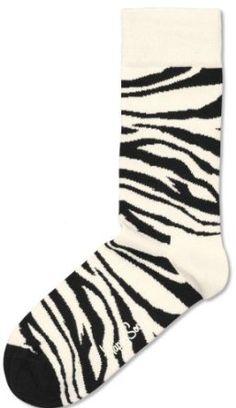 Black and White Zebra Socks - Large - by Happy Socks Happy Socks. $12.95