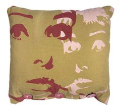{the Audrey pillow} burgundy & pink