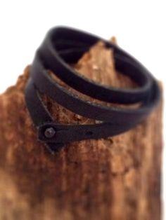 Thin Leather Wrap Around Bracelet