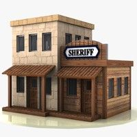 Cartoon Western Building 1 (Sheriff) Model available on Turbo Squid, the world's leading provider of digital models for visualization, films, television, and games. Old Western Towns, Old West Town, Model Trains, Ho Trains, Fairy Village, Pallet House, Western Theme, Christmas Villages, Wild West