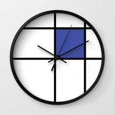 mondrian mondrian 3 blue wall clock  mondrian blue by GorgeousGD