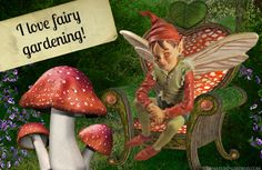 A little fairy in our Valentine's Day fairy garden.
