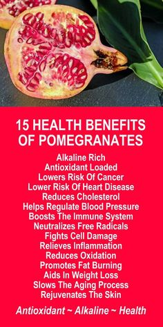 15 Health Benefits Of Pomegranates. Amplify the effects of this alkaline rich, antioxidant loaded superfruit by infusing with alkaline rich Kangen Water; the hydrogen rich, antioxidant loaded, ionized water that neutralizes free radicals that cause oxidative stress which can lead to a variety of health issues including disease such as cancer. Change your water, change your life. LEARN MORE #Pomegranates #Alkaline #Antioxidant #Health #Benefits
