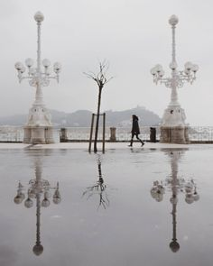 Donostia bajo la llu