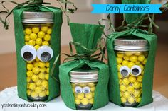Corny Containers Thanksgiving Craft #thanksgivingcrafts #masonjarcrafts #thanksgivingcraftsforkids #yesterdayontuesday