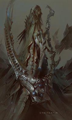 Impressive Fantasy illustrations : the art of Marat Ars Character Concept, Character Art, Concept Art, Character Design, Illustration Fantasy, Arte Obscura, Fantasy Monster, Ex Machina, Cg Art