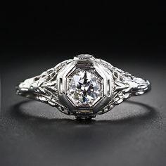 .42 Carat European-Cut Diamond Vintage Solitaire Engagement Ring