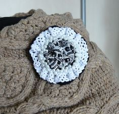 Handmade beadwork embroidery brooch #etsy #beadedbrooch #crochetbrooch #embroiderybrooch #beadworkembroidery Handmade Items, Handmade Jewelry, Handmade Gifts, Gifts For Women, Gifts For Her, Beaded Brooch, Wedding With Kids, Knitted Poncho, Love To Shop