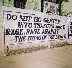 Do not go gentle into that good night. More