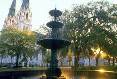 Photos of Savannah, Georgia: Fountain in Lafayette Square Visit Savannah, Savannah Chat, Savannah Georgia, Historic Savannah, Georgia Usa, Ga Usa, Downtown Savannah, Lafayette Square, The Great Escape