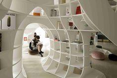 Cave of Books(本の洞窟)   デザイン情報サイト[JDN]