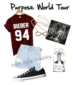 """Ready For the Purpose Tour #Beliebers❤️❤️"" by lanlizzle on Polyvore featuring mode, Justin Bieber, Topshop et Converse"