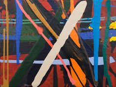 """Abstract Plaid #2"" wall decor for the home by Marie Kazalia for GreenBox Art + Culture $119"