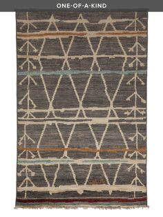 """Moroccan Hand-Knotted Rug (6'1""""x4') from Modern Moroccan: Art & Rugs on Gilt"""