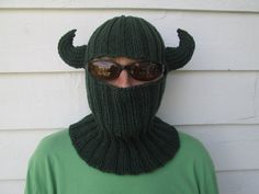 Ready to ship  This listing for the hat ONLY.  The beard is https://www.etsy.com/listing/166937692/beard-and-mustache-only-ready-to-wear?ref=shop_home_active_5  Сlassiс , Stylish, cozy, unique, elegant balaclava hat Warm and comfortable, lightweight. It fits men, women and teens.  Measurements 15 inches long 20 inches around   Handmade Winter Fashion. This knit balaclava is perfect for both: teens and adults,Men or Women It is comfortable, easy to wear and care ...